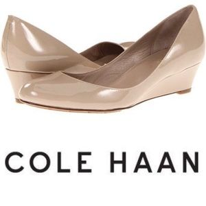Cole Haan Talia Air Patent Leather Wedge 8.5